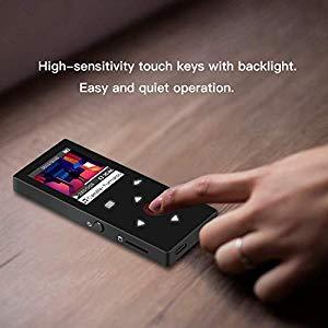 HiFi Metall Musik Player mit 1,8 Zoll TFT Farbbildschirm Schwarz unterst/ützt bis 128 GB SD Karte Hommie Bluetooth 4.0 MP3 Player 8GB mit unabh/ängigen Lautst/ärke-Tasten