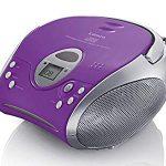 Lenco Radio CD-Player SCD-24 tragbares Stereo UKW-Radio mit CD-Player und Teleskopantenne in lila : Würden wir wieder kaufen